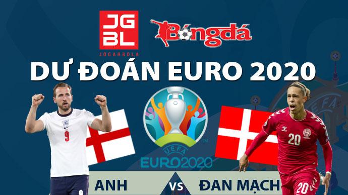 Dự đoán EURO 2020 trúng thưởng: Anh vs Đan Mạch