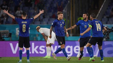 Niềm vui chiến thắng sẽ đến với Italia trong trận bán kết EURO 2020