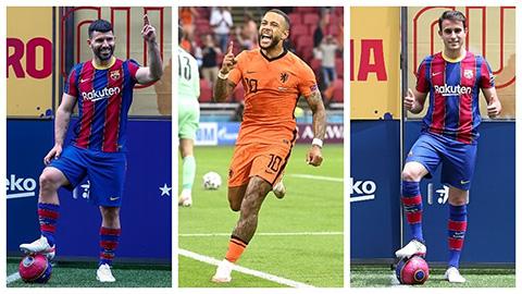 Báo động ở Barca: Aguero, Depay, Eric Garcia không được đăng ký thi đấu