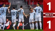 Argentina vs Colombia: 1-1 (luân lưu: 3-2, bán kết Copa America 2021)
