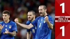 Italia vs Tây Ban Nha: 1-1 (luân lưu: 4-2), Italia vào chung kết sau loạt 'đấu súng 'cân não