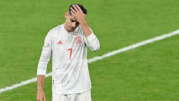 Morata không có được tâm lý vững vàng cần thiết để đá luân lưu