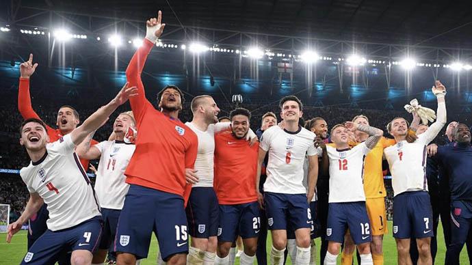 Anh lội ngược dòng thành công trước Đan Mạch để lọt vào chung kết EURO 2020