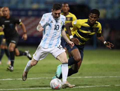 Messi đang dẫn đầu danh sách Vua phá lưới với 4 bàn thắng
