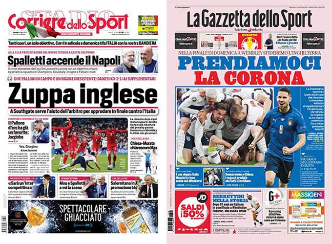 Báo chí Italia công kích ĐT Anh nhưng không khiến họ phân tâm