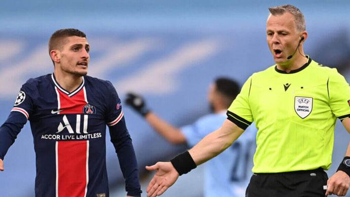 Trọng tài bắt trận chung kết EURO 2020 từng... chửi Verratti