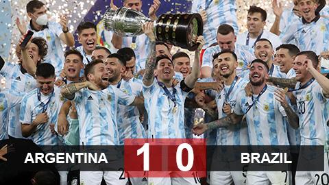 Kết quả Argentina 1-0 Brazil: Chức vô địch lịch sử của Messi