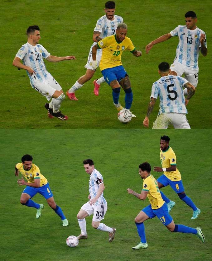 Messi và Neymar là những người bị theo kèm sát nhất