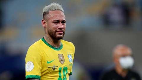 Neymar khóc nức nở khi Brazil thua chung kết Copa America 2021
