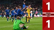 Italia vs Anh: 1-1 (pen: 3-2), tội đồ Sancho, Rashford giúp Donnarumma thành người hùng