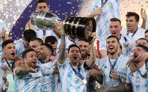 Argentina vừa vô địch Copa America 2021 nhưng chỉ đứng thứ 4 về tỷ lệ cược vô địch World Cup 2022