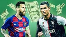 5 siêu sao nhận lương khủng nhất thế giới: Messi bỏ xa Ronaldo dù bị giảm 50% ở Barca