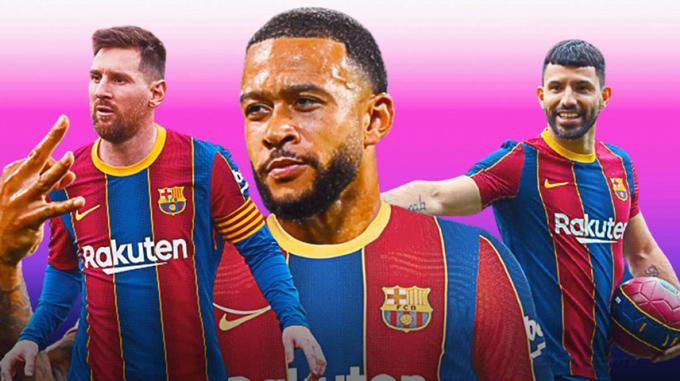 Giữ chân Messi, chiêu mộ miễn phí Depay và Aguero đã là thành công của Barca