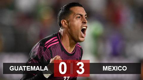 Kết quả Guatemala 0-3 Mexico: ĐKVĐ Mexico thắng trận đầu
