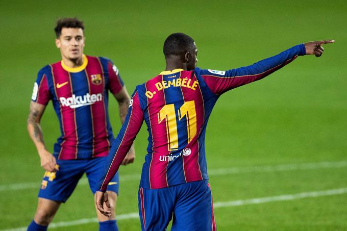 Barca đang tìm cách bán Coutinho và Dembele