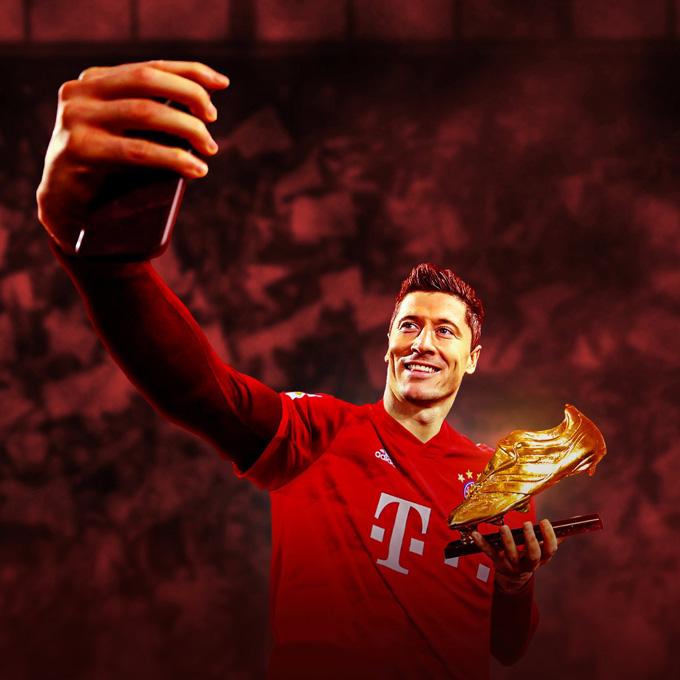 Lewandowski vừa giành Chiếc giày vàng châu Âu 2020/21