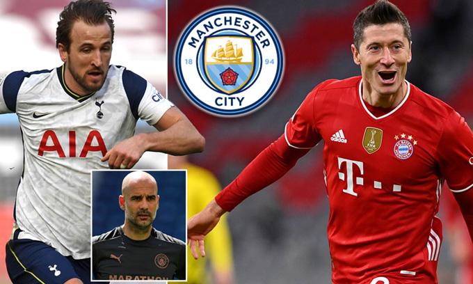 Man City muốn theo đuổi Lewandowski sau khi gặp khó vụ mua Kane
