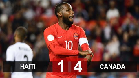 Kết quả Haiti 1-4 Canada: Canada sớm giành vé vào vòng tứ kết Gold Cup