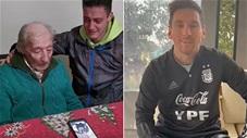 Quá xúc động, Messi gọi điện cảm ơn CĐV 100 tuổi