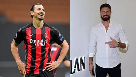 Giroud có thể đá cặp với Ibra