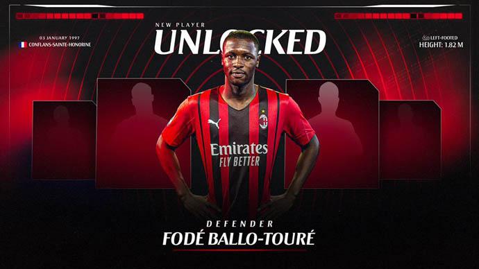 Milan nhanh tay sở hữu Ballo-Toure ngay trước mũi Man United