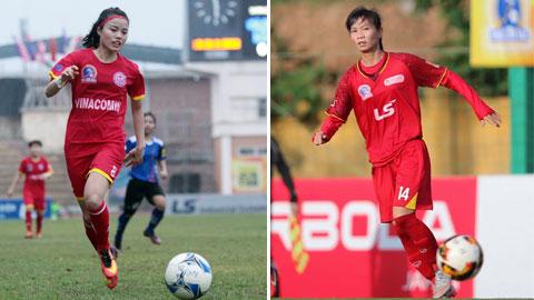 Hai tiền vệ kỳ cựu Trần Thị Thùy Trang và Phạm Hoàng Quỳnh (trái) đều có tên trong danh sách của ĐT nữ Việt Nam - Ảnh: PHAN TÙNG