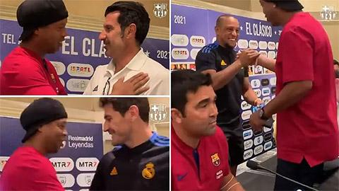 Siêu kinh điển giữa các huyền thoại: Ronaldinho đại chiến Figo