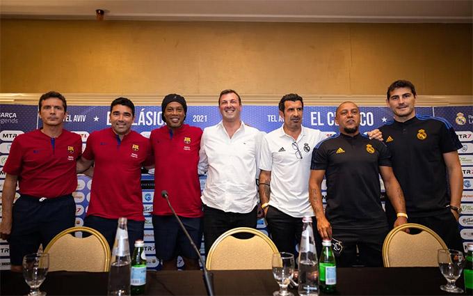 Những huyền thoại của Barca và Real sẽ đối đầu nhau tại Israel