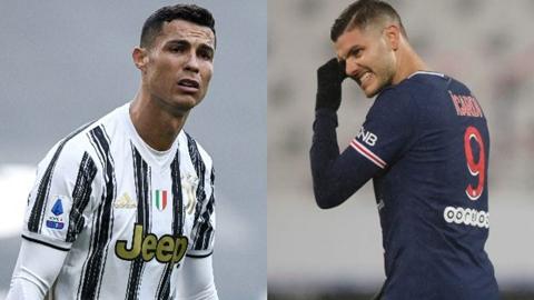 Juventus tính đổi Ronaldo lấy Icardi của PSG