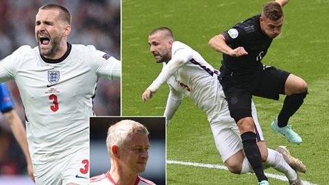 Shaw đá 3 trận cuối tại EURO 2020 với xương sườn bị rạn