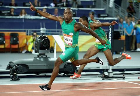 Simbine tranh tài tại Olympic 2020 với tư cách VĐV  chạy 100m nhanh nhất lịch sử điền kinh châu Phi