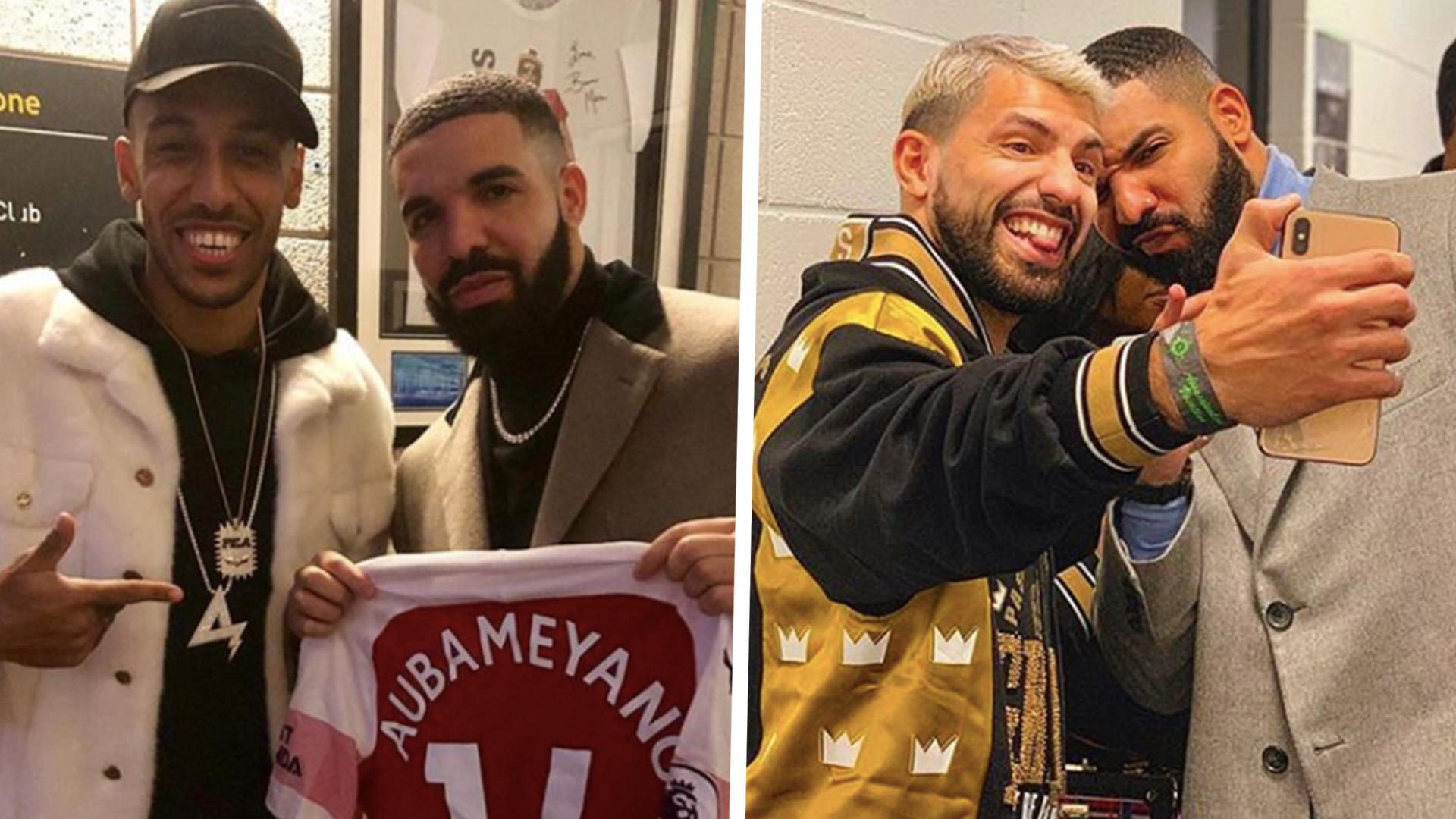 Rapper Drake chính là một thứ bùa độc đia cho bất cứ cầu thủ nào chụp ảnh chung cùng mình