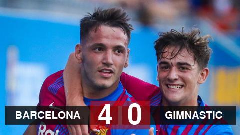 Kết quả Barcelona 4-0 Gimnastic Tarragona: Hat-trick bất ngờ của Manaj