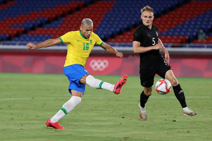 Richarlison đã có trận đấu xuất sắc giúp U23 Brazil thắng U23 Đức