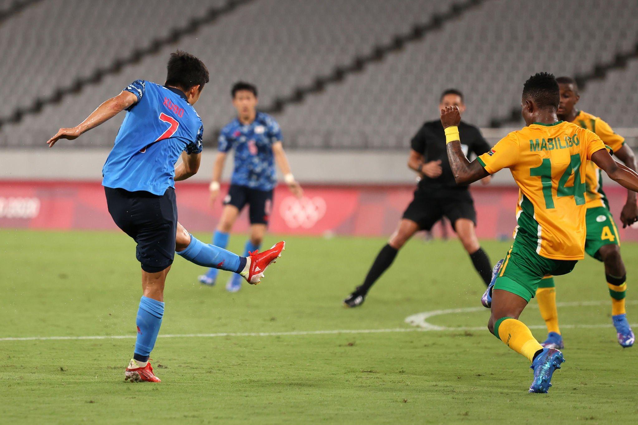 Kubo ghi bàn giúp U23 Nhật thắng U23 Nam Phi