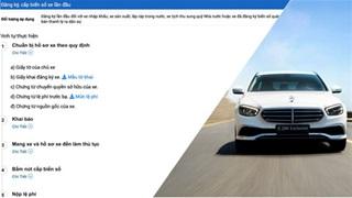Đã có thể đăng ký xe mới và nhiều thủ tục khác online