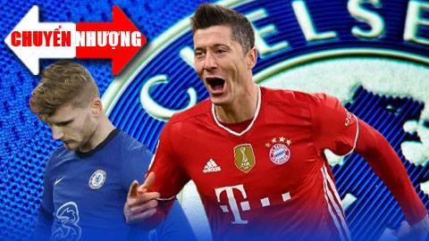 Tin chuyển nhượng 23/7: Chelsea mê mẩn Lewandowski khiến Werner hờn dỗi