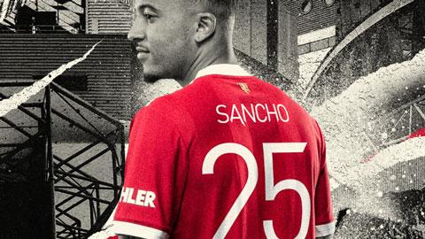 Ngã ngửa với số áo của Sancho tại Man United