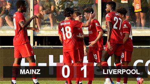 Kết quả Mainz 0-1 Liverpool: The Kop chưa nóng máy