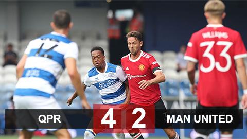 Kết quả QPR 4-2 MU: Quỷ đỏ thua thảm