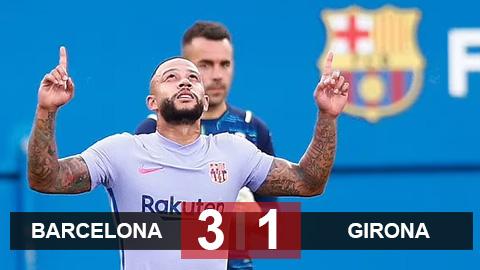 Kết quả Barcelona 3-1 Girona: Depay ra mắt thuận lợi trong trận cầu có 3 quả penalty