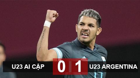 Kết quả U23 Ai Cập 0-1 U23 Argentina: 3 điểm đầu tiên