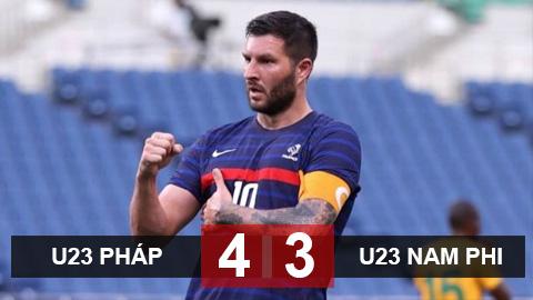 Kết quả U23 Pháp 4-3 U23 Nam Phi: Ngược dòng điên rồ
