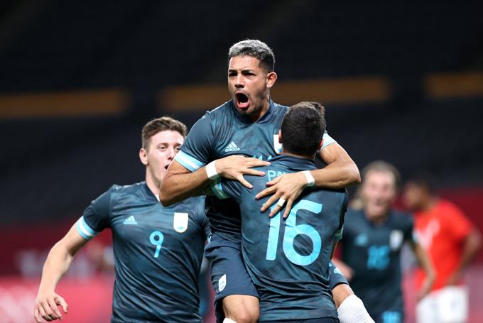 Medina ghi bàn duy nhất trận U23 Ai Cập vs U23 Argentina