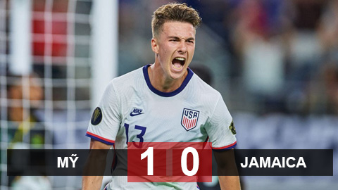 Kết quả Mỹ 1-0 Jamaica: Chủ nhà chật vật vào bán kết