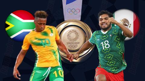 Nhận định bóng đá U23 Nam Phi vs U23 Mexico, 18h30 ngày 28/7