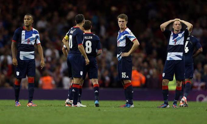 ĐT U23 Vương quốc Anh từng thất bại đau đớn trước U23 Hàn Quốc ở Olympic 2012