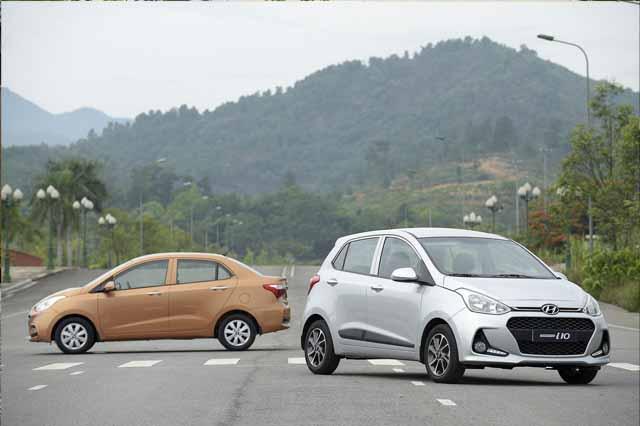 Hyundai i10 phân phối cả dưới dạng sedan và hathchback