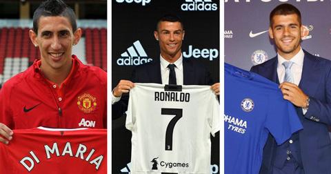Di Maria, Ronaldo và Morata là 3 hợp đồng bán đi đắt giá nhất lịch sử Real
