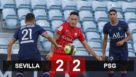 Kết quả Sevilla 2-2 PSG: Mưa bàn thắng mãn nhãn
